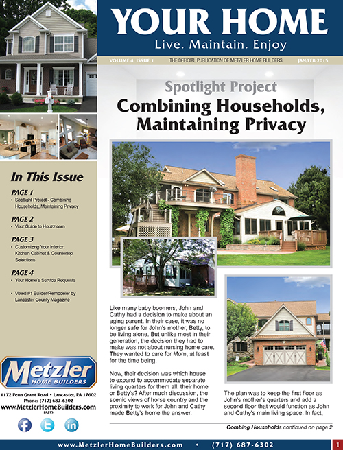 Metzler 'Your Home' Newsletter PDF cover for Volume 4 Issue 1