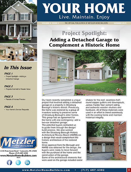 Metzler 'Your Home' Newsletter PDF cover for Volume 4 Issue 2