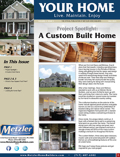 Metzler 'Your Home' Newsletter PDF cover for Volume 6 Issue 3