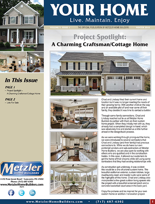 Metzler 'Your Home' Newsletter PDF cover for Volume 5 Issue 1