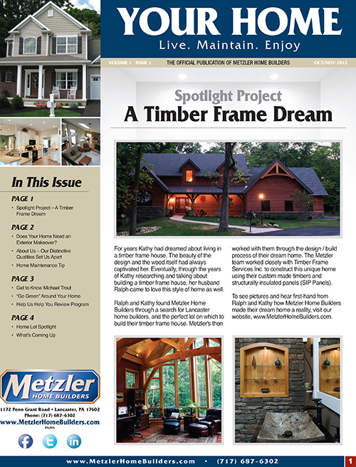 Metzler 'Your Home' Newsletter PDF cover for Volume 1 Issue 1