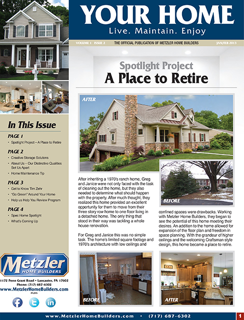 Metzler 'Your Home' Newsletter PDF cover for Volume 1 Issue 2