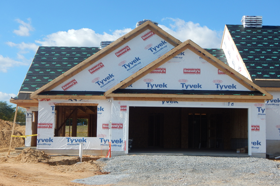 Villas at Featherton under construction
