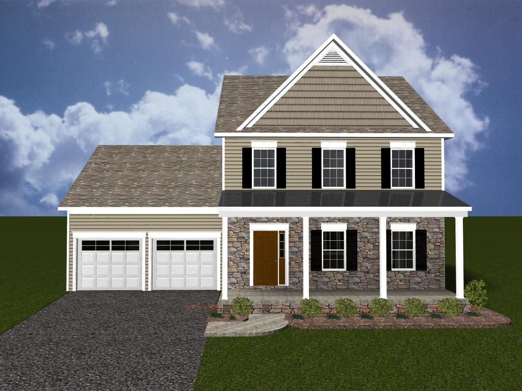 lancaster new home 3d rendering in willow bend