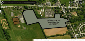 Parkside at Lampeter plot plan