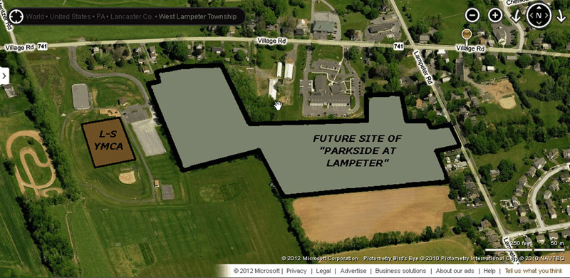 Parkside at Lampeter plot plan