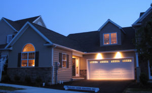 Willow Bend Farm home exterior at dusk