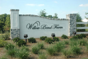 Willow Bend Farm community sign