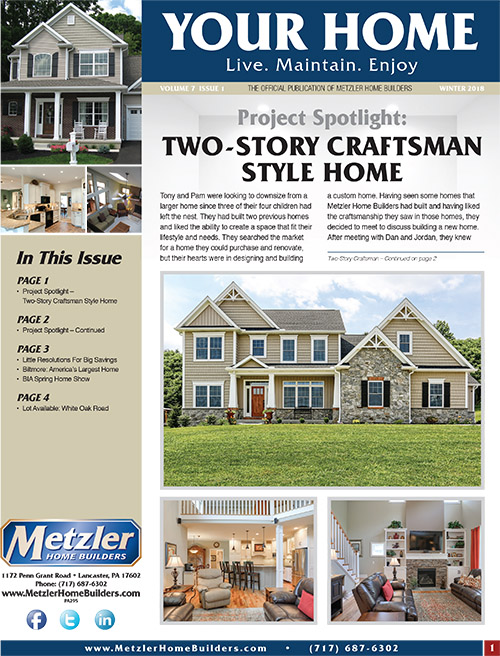 Metzler 'Your Home' Newsletter PDF cover for Volume 7 Issue 1