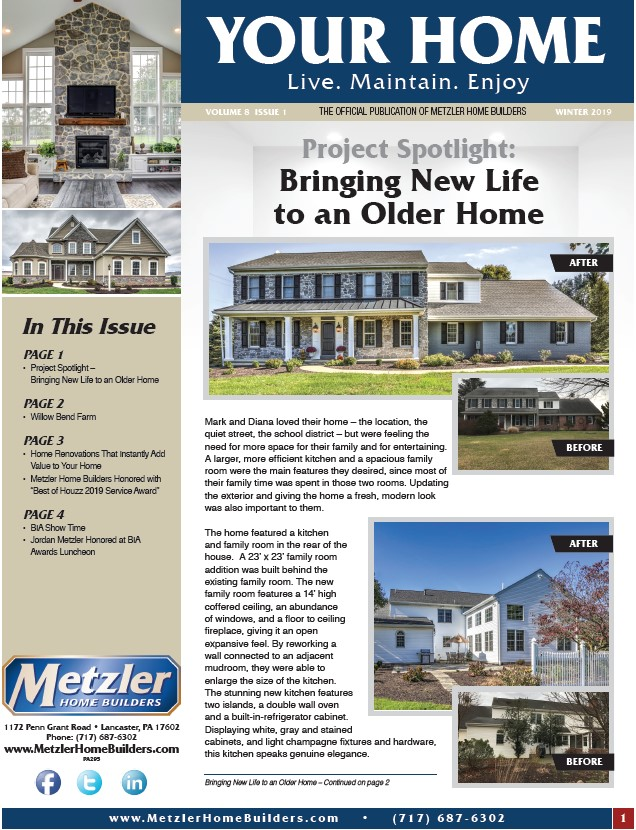 Metzler 'Your Home' Newsletter PDF cover for Volume 8 Issue 1