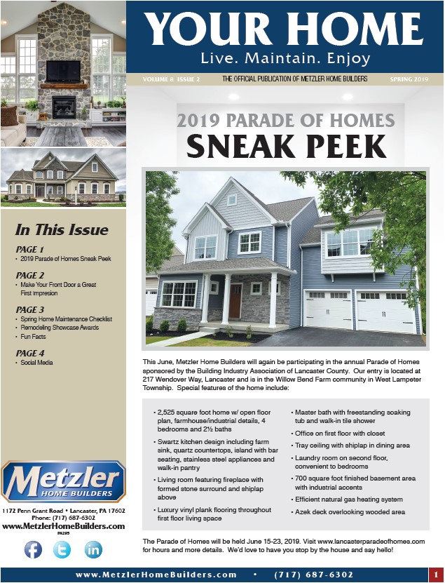 Metzler 'Your Home' Newsletter PDF cover for Volume 8 Issue 2