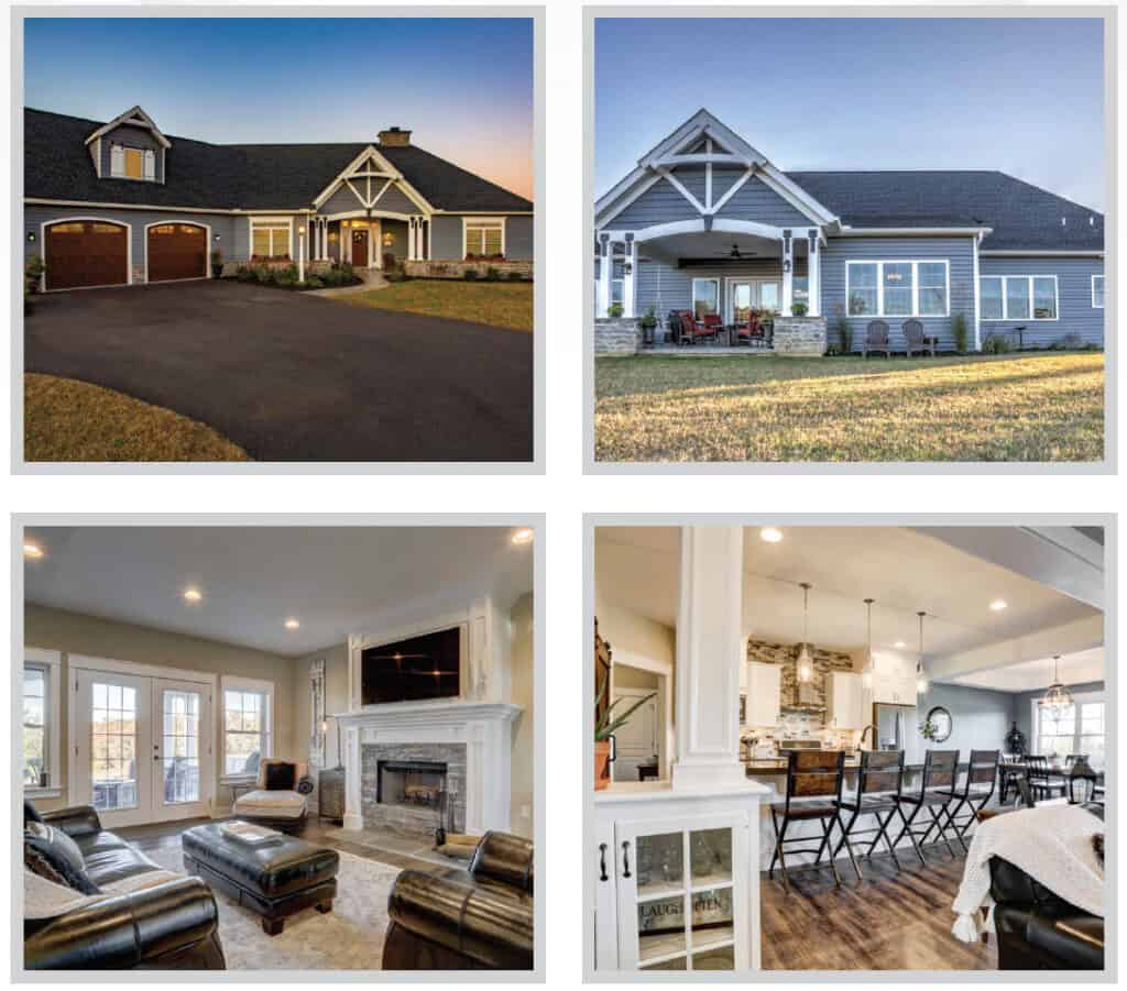 various new home interiors & exteriors by metzler home builders