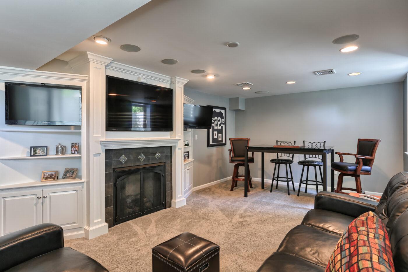 finished-basement-tv-fireplace